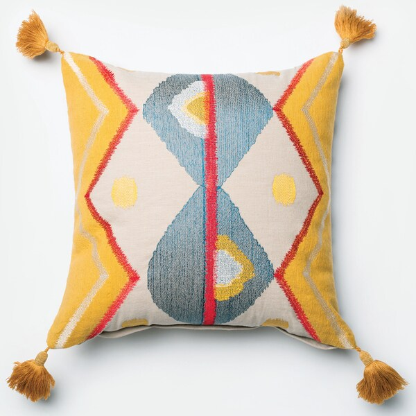 Furniture of America Tribal Tasselled 18-inch Decorative Throw Pillow