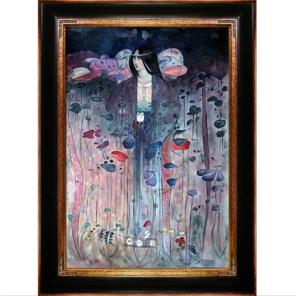 Charles Rennie Mackintosh Untitled Hand Painted Framed Canvas Art