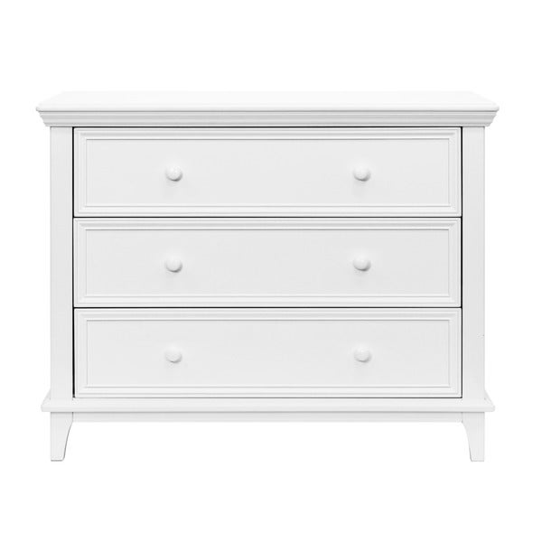 kolcraft 3 drawer white transitional dresser. Black Bedroom Furniture Sets. Home Design Ideas