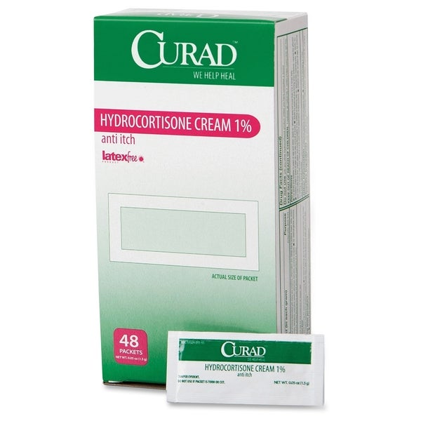 Medline Curad Hydrocortisone Cream 1 Pct Packets