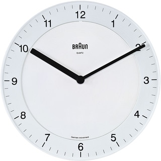 Braun White Quiet German Precision Quartz Wall Clock