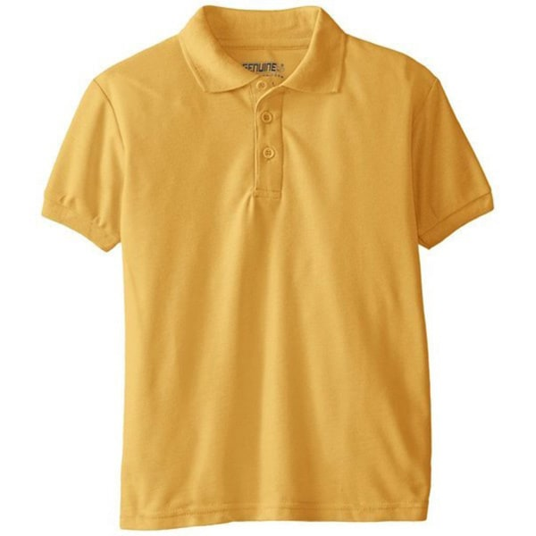 Unisex Kids Gold Short Sleeve Polo Shirt
