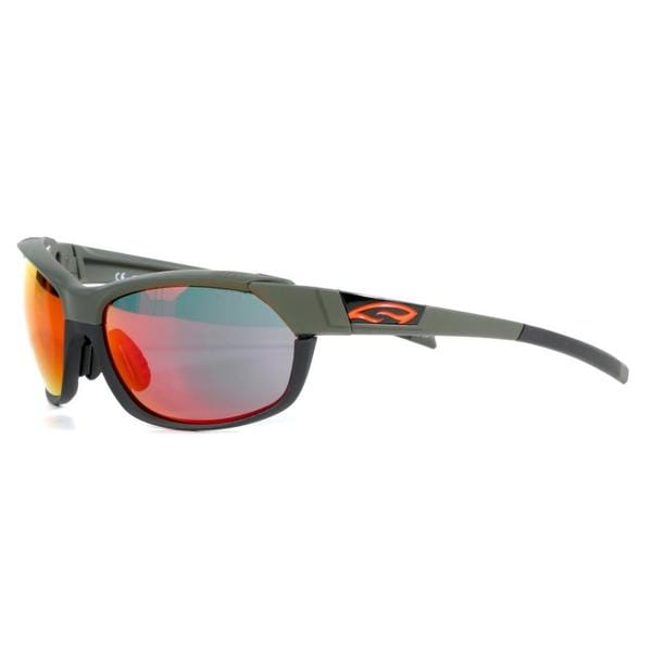 Smith Men's Matte Fatigue Pivlock Overdrive Sunglasses with Red Sol-X Ignitor Lenses