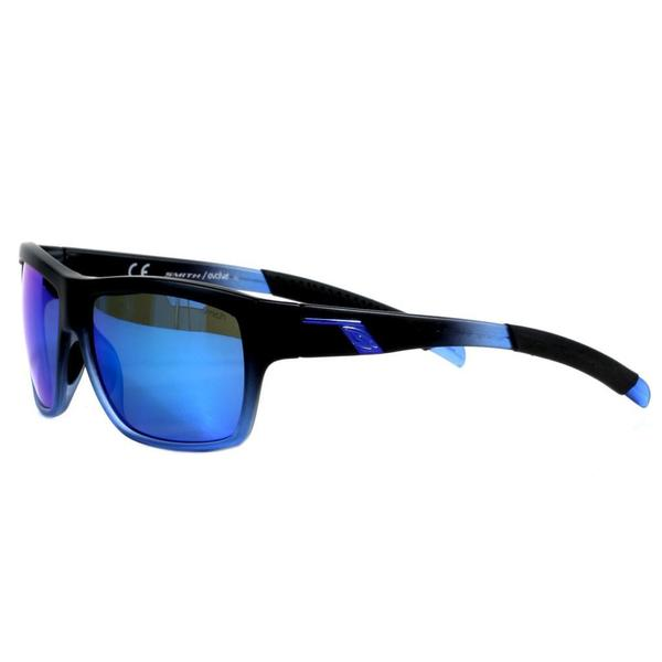 Smith Men's Black n Blue Mastermind Sunglasses with Blue Sol-X Lenses