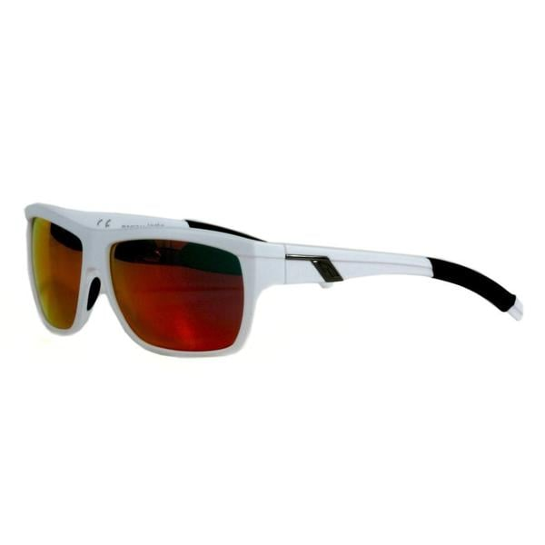 Smith Men's Matte White Mastermind Sunglasses with Red Sol-X Lenses