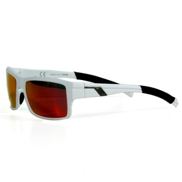 Smith Men's Matte White Outlier Sunglasses with Red Sol-X Lenses