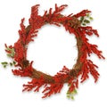 24-inch Vine Wreath with Red Berries and Cones