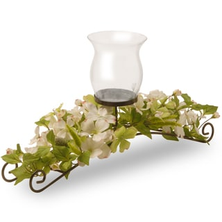30-inch Dogwood 1-candle Holder with Glass Cup