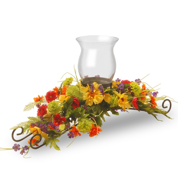 30-inch Cosmos Mixed 1-candle Holder with Glass Cup