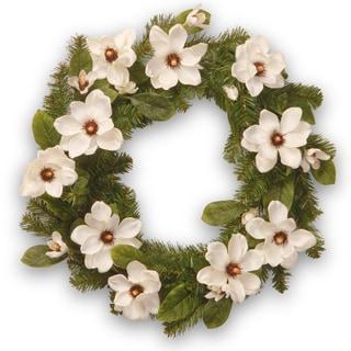 24-inch Cream Magnolia Wreath