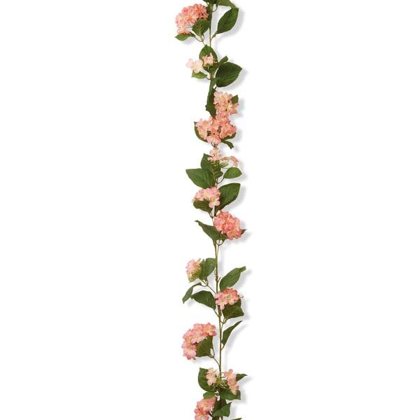 6-foot Pink Hydrangea Garland