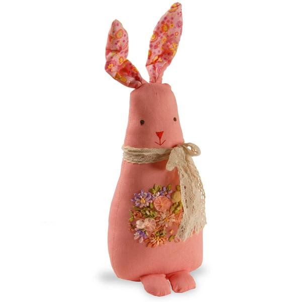 Pink 20-inch Fabric Rabbit