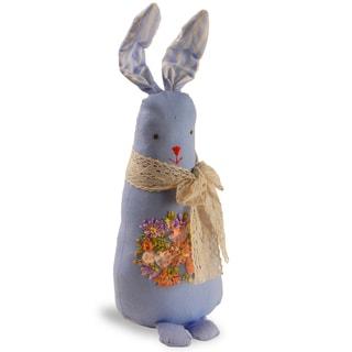 Blue 20-inch Fabric Rabbit