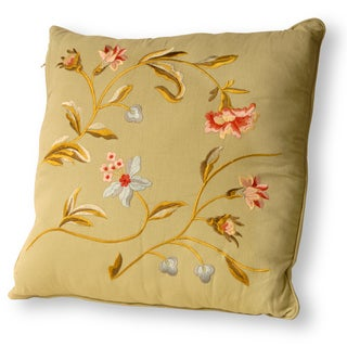 Green 16-inch Decorated Pillow