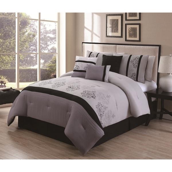 Heaven 7-piece Embroidered Comforter Set