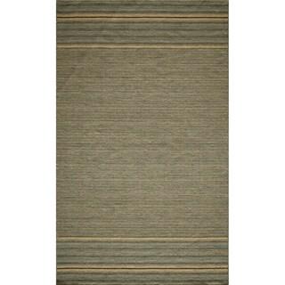 Danville Simple Stripe Reversible Flat Weave Wool Dhurry Rug (8' x 10')