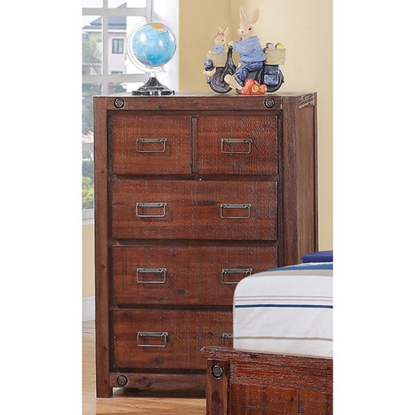 Donco Kids Brushed Industrial 5-drawer Chest