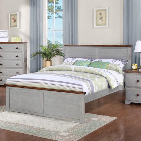 Donco Kids Washed Denim Panel Bed