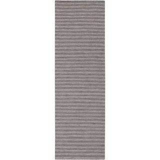 Hand-Woven Lorelai Stripe Reversible Wool Rug (2'6 x 8')