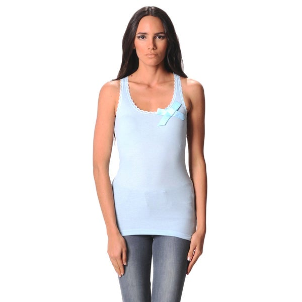 Sara Boo Women's Tank Top with Bow Detail
