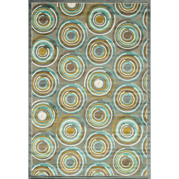 Furniture of America Bardot Graphic Circle Area Rug (5'2 x 7'7)