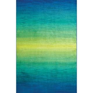 Furniture of America Rashida Blue Gradient Area Rug (5' x 7'7)