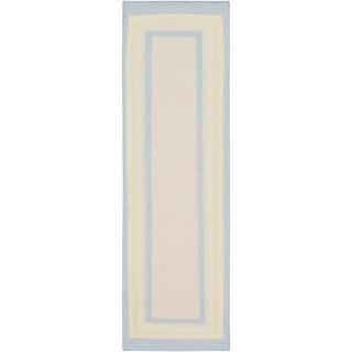 Somerset Bay Hand-Woven Hessle Border Wool Rug (2'6 x 8')