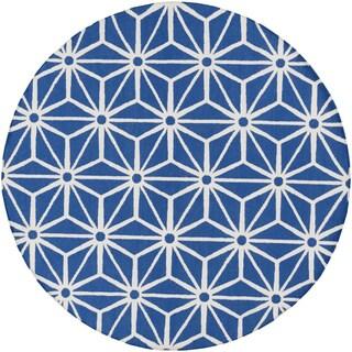 Jill Rosenwald Hand-Woven Bungay Geometric Wool Rug (8' Round)