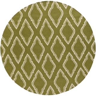 Jill Rosenwald Hand-Woven Bourne Morrocan Trellis Wool Rug (8' Round)