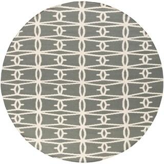 Jill Rosenwald Hand-Woven Bolton Geometric Wool Rug (8' Round)
