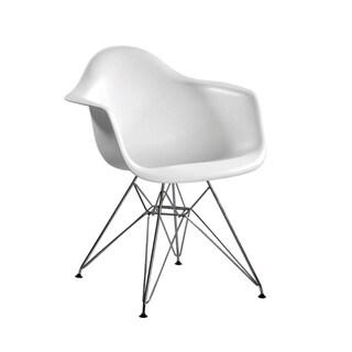 Paris Tower Chrome Leg Arm Chair (Set of 2)