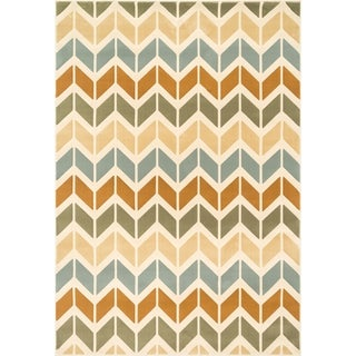 Furniture of America Bardot Graphic Chevron Area Rug (7'7 x 10'5)