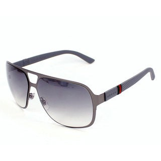 Gucci Men's 2253/S Metal Rectangular Sunglasses