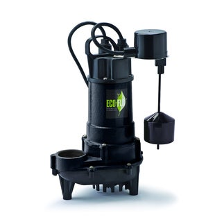 ECO-FLO Products ECD75V 3/4 HP 6300 GPH Cast Iron Submersible Sump Pump with Vertical Switch