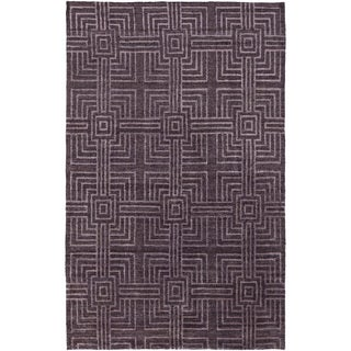 Hand-Knotted Mae Geometric Bamboo Silk Rug (8' x 11')