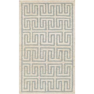 Hand-Woven Gilberto Geometric Jute Rug (8' x 11')