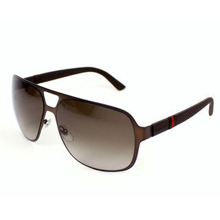 Gucci Men's 2253/S Metal Rectangular Sunglasses
