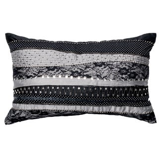 Furniture of America Modern Blaire Embroidered Accent Throw Pillow
