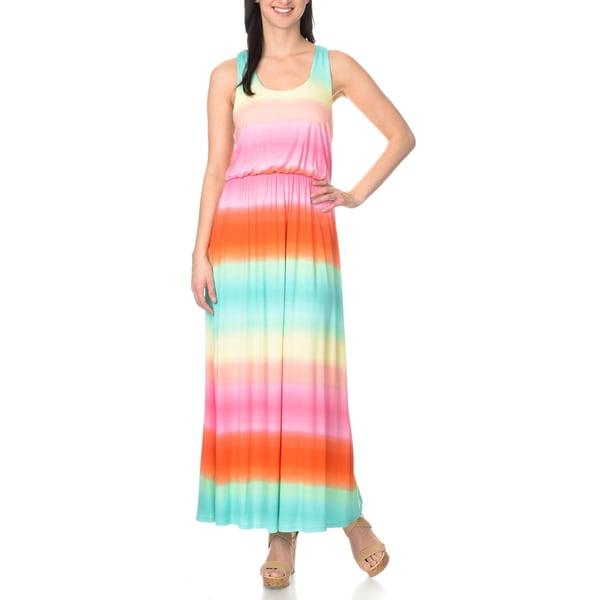 Chelsea & Theodore Women's Rainbow Maxi Dress