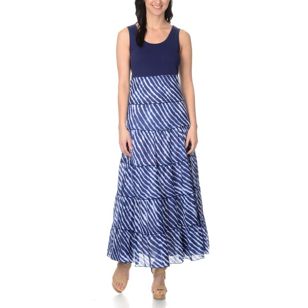 Chelsea & Theodore Women's Tiered Skirt Maxi Dress