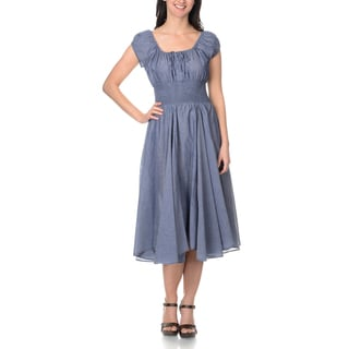 Chelsea & Theodore Women's Denim Peasant Dress