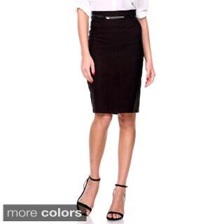 Women's High-waist Belted Pencil Skirt
