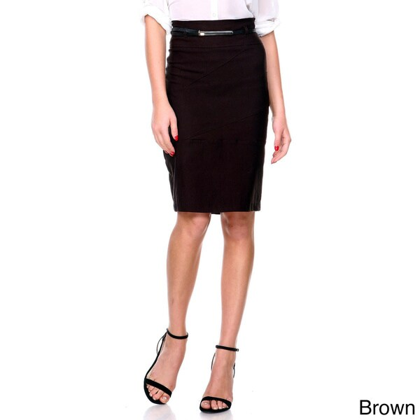 Women's High-waist Belted Pencil Skirt