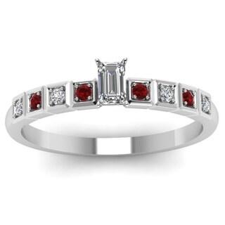 Fascinating Diamonds 14k White Gold 5/8ct TDW Diamond and Red Ruby Ring (F-G, VS1-VS2)