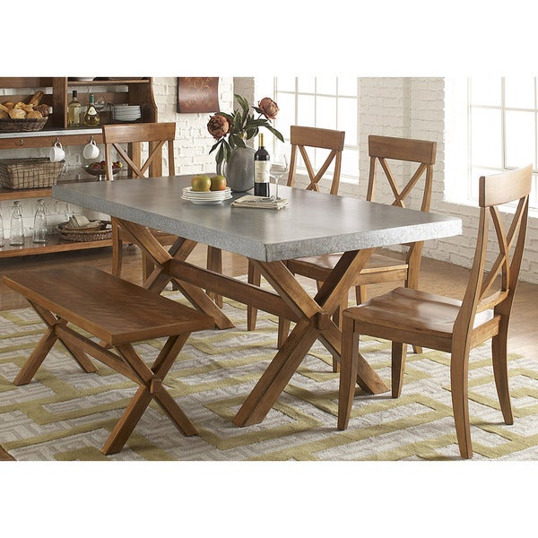 Keaton Maple/ Zinc 6-piece Dinette Set