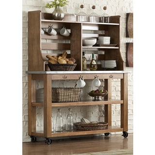 Keaton Maple and Zinc Server and Hutch