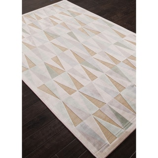 Machine Made Geometric Pattern Ivory\Ivory (9x12) Area Rug