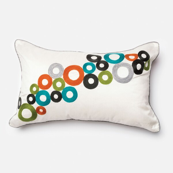 Furniture of America Scaling Multi-color Circle Decorative Throw Pillow