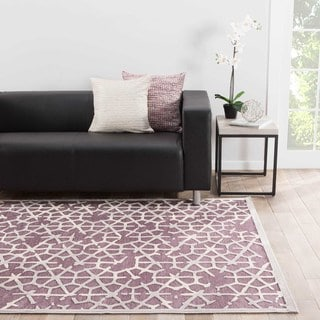 Machine Made Geometric Pattern Grey\Gray (7.6x9.6) Area Rug