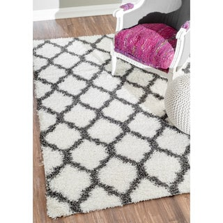 nuLOOM Alexa My Soft and Plush Modern Trellis Shag Rug (9'2 x 12')
